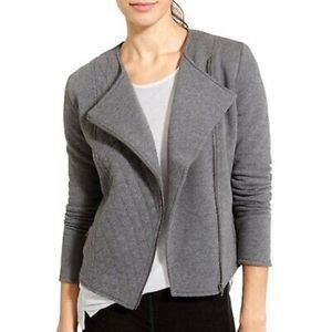 Athleta Asymmetrical Zip Up Quilted Sweatshirt